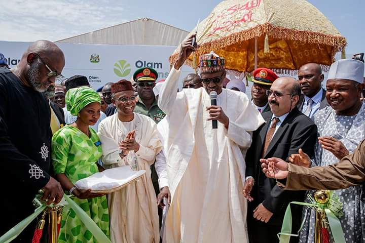 Buhari Inaugurates N30bn Olam Poultry, Feed Mill Project Started By El-Rufai In 2016