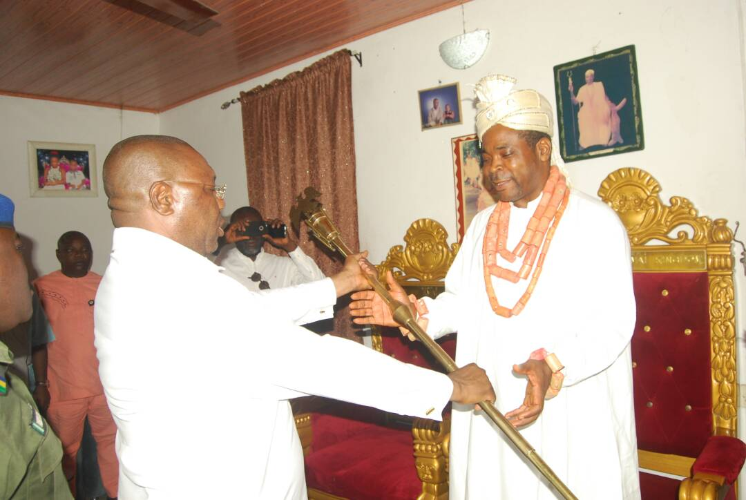 Tight Security As Delta Deputy Governor Presents Staff Of Office To Monarch Amid Court Restraining Order