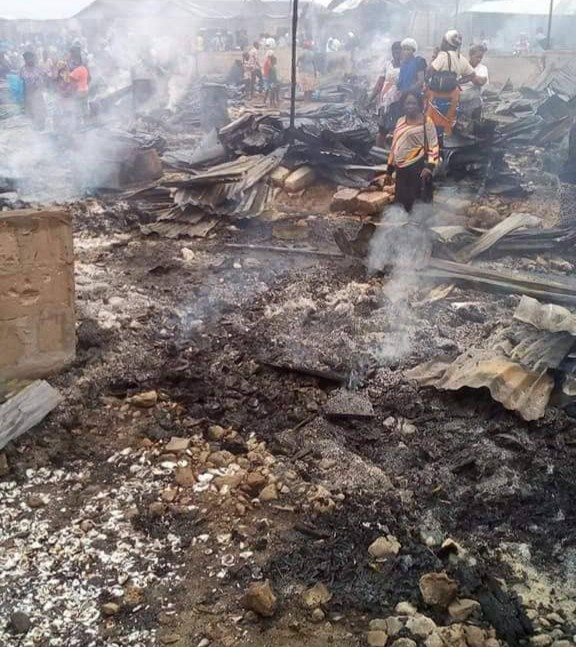 Fire Guts Popular Warri Market Again