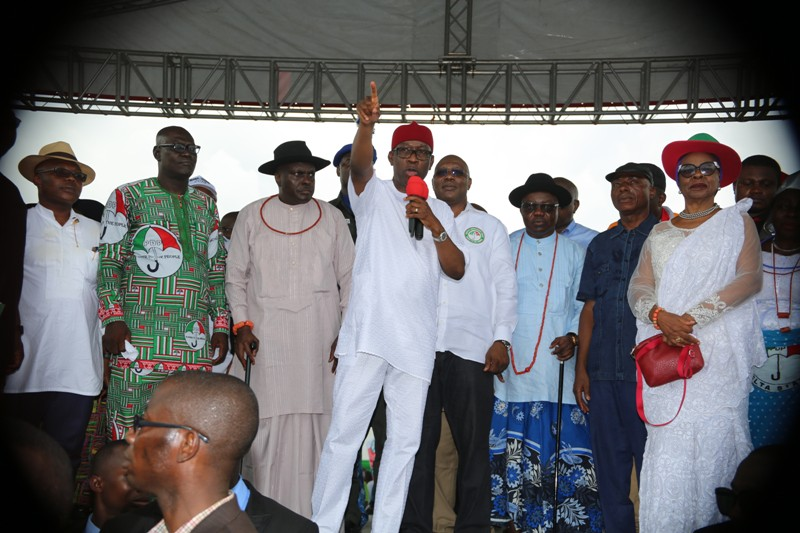 2019: Ibori, Uduaghan, Oritsejafor, Bozimo, Ogba, Okumagba, Other Delta South Leaders Endorse Okowa For Second Term